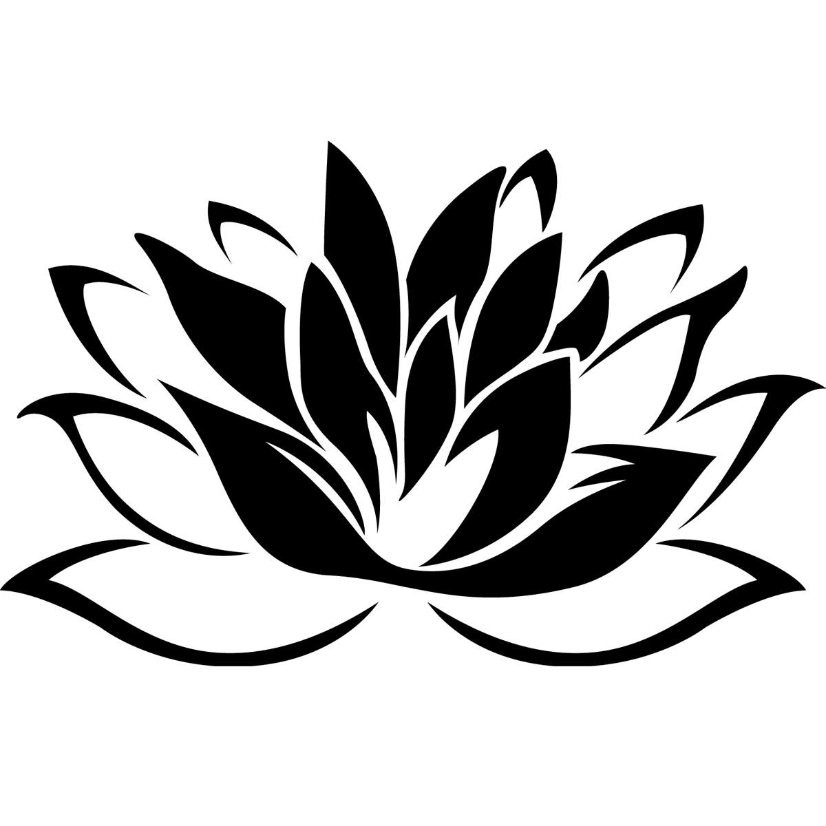 Stickers Muraux Fleurs Sticker Fleur De Lotus