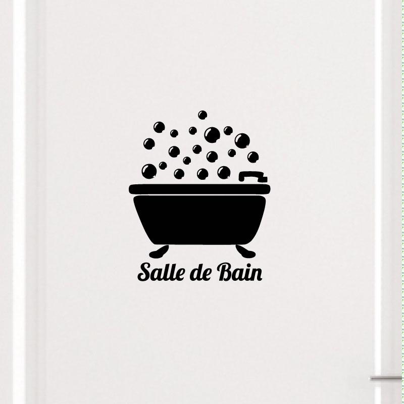 Sticker Porte Salle De Bain Bain Bulles Stickers