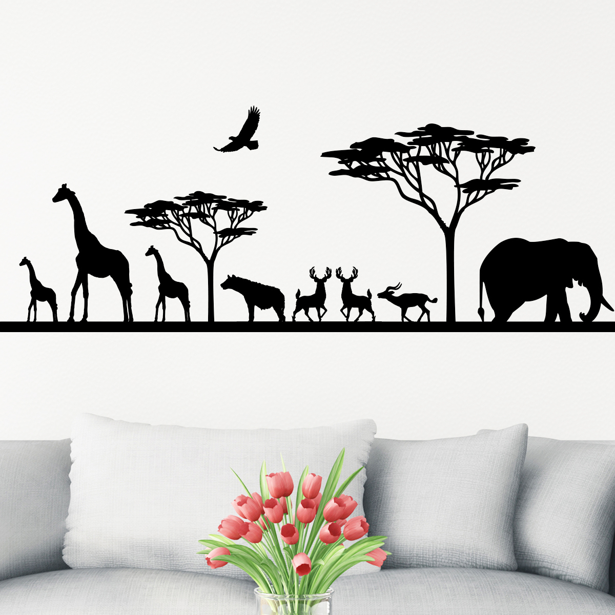 Sticker Savane Africaine Et Ses Animaux Stickers Animaux
