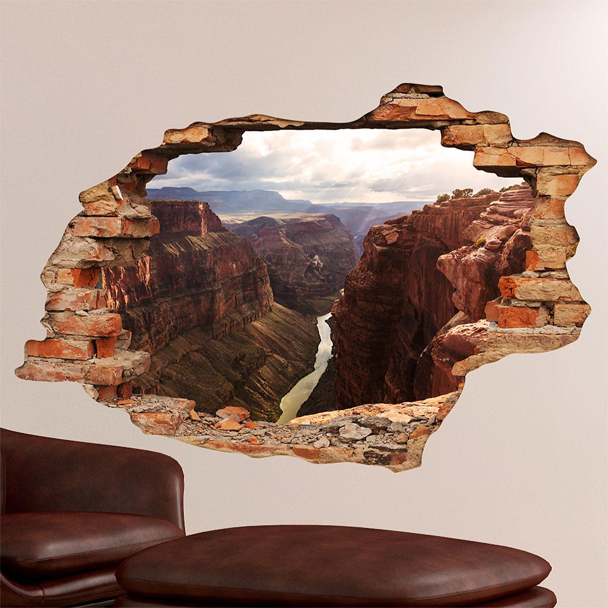 Sticker Trompe Loeil Vue Sur Le Grand Canyon Stickers