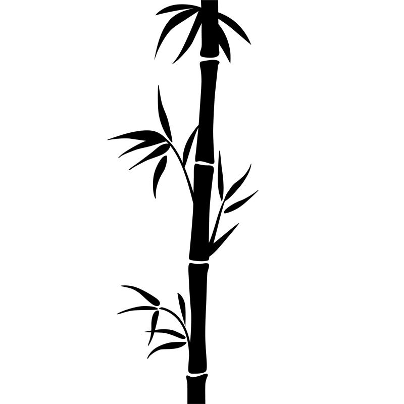 sticker une tige de bambou
