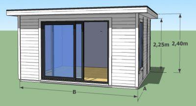 studio de jardin en bois a toit plat
