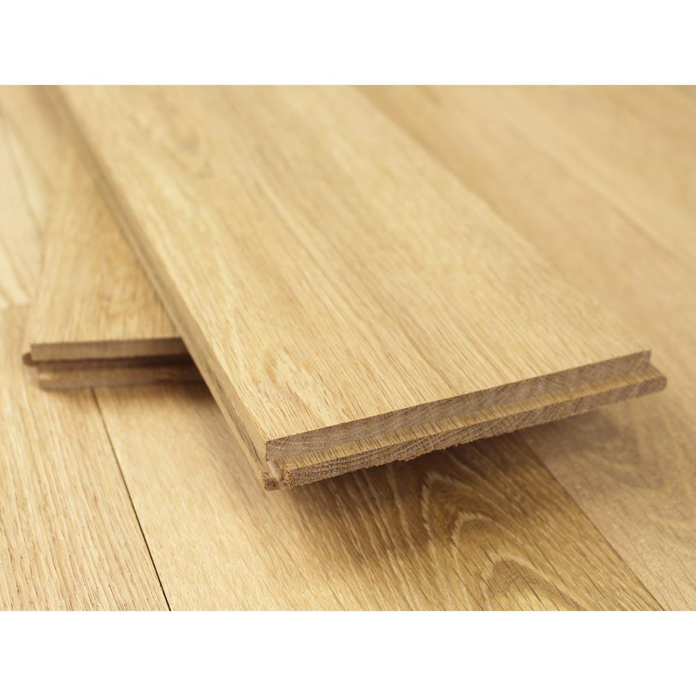 140mm Unfinished Natural Solid Oak Wood Flooring 1m 178 20mm S