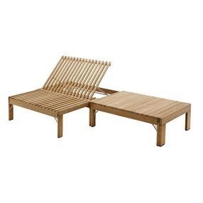 chaises longues en bois