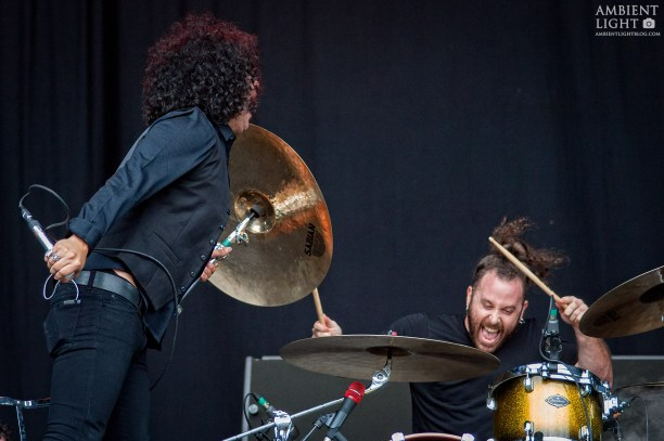 Antemasque perform live in Auckland 2015. Concert image by Doug Peters.