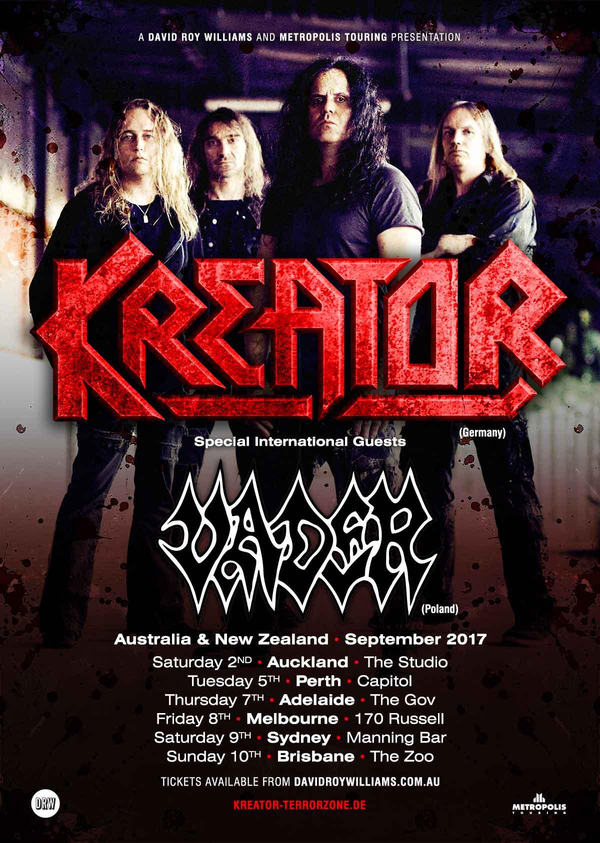 Kreator NZ Tour Poster