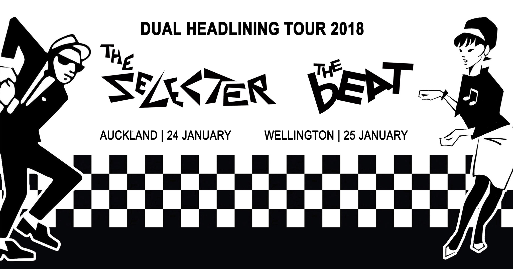 The Selecter and The Beat NZ Tour Banner
