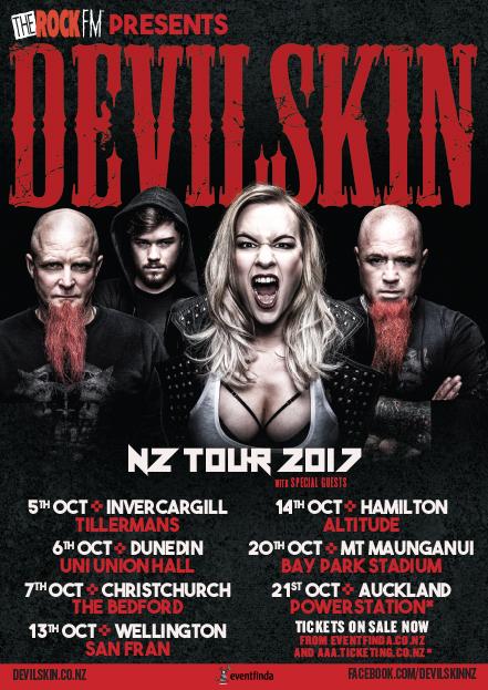 Devilskin NZ Tour 2017 Poster