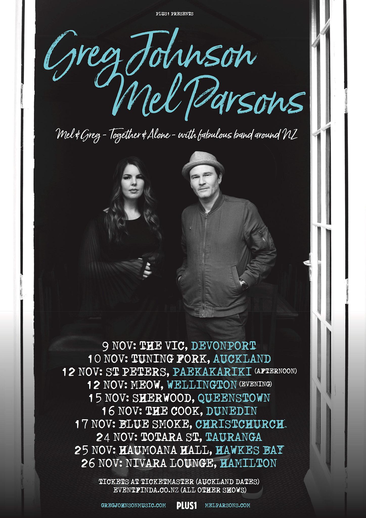 Mel & Greg Tour Poster