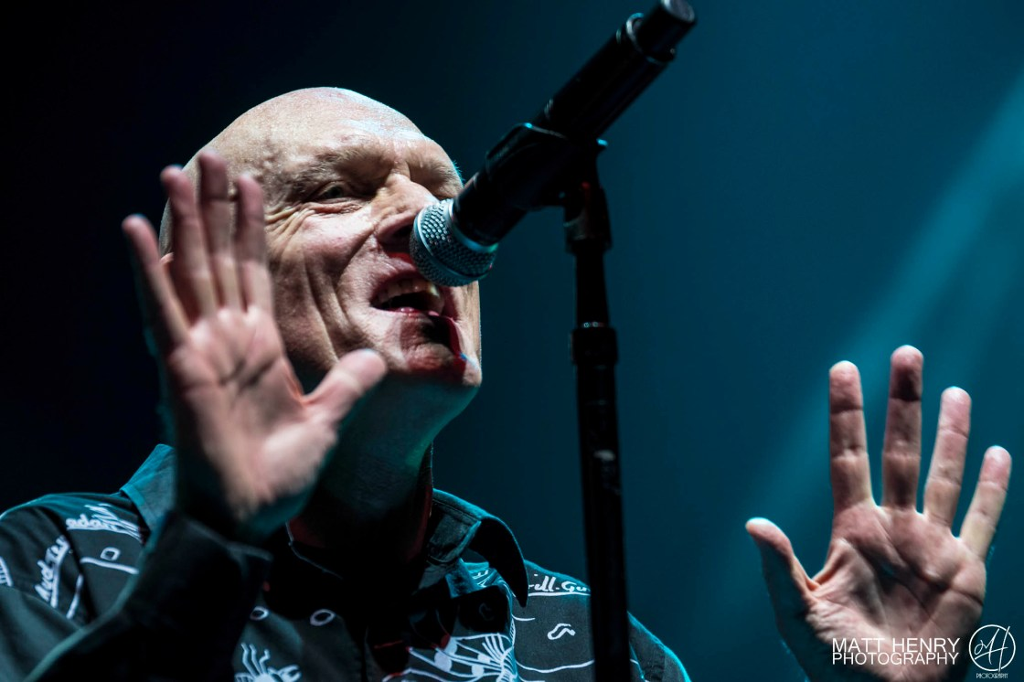 Midnight Oil performing live in Auckland, New Zealand 2017. Image by Matt Henry Photography.