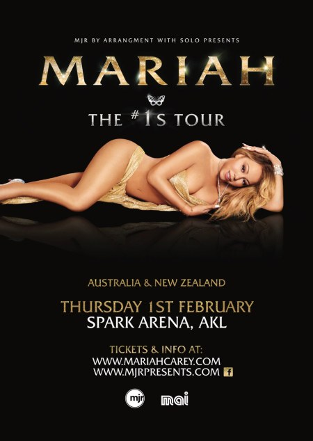 Mariah Carey NZ Concert Poster 2018