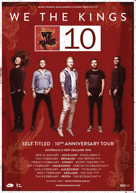 We The Kings Tour Poster