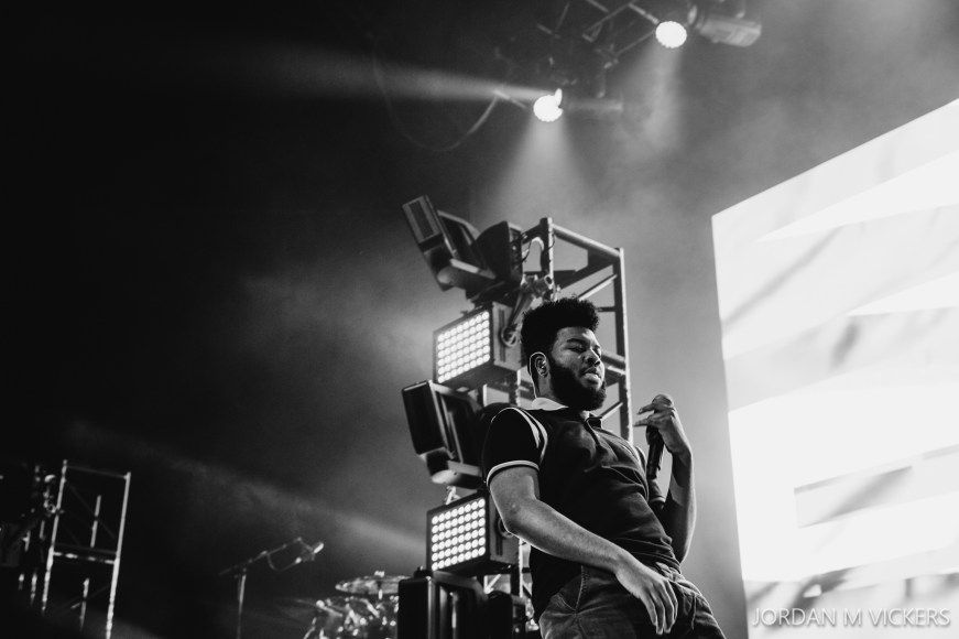 Khalid performing live in Auckland, New Zealand 2017. Image by Jordan M Vickers.