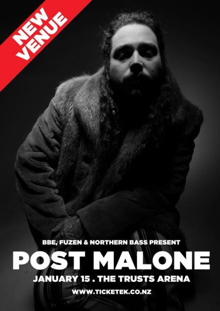 Post Malone NZ Tour Poster