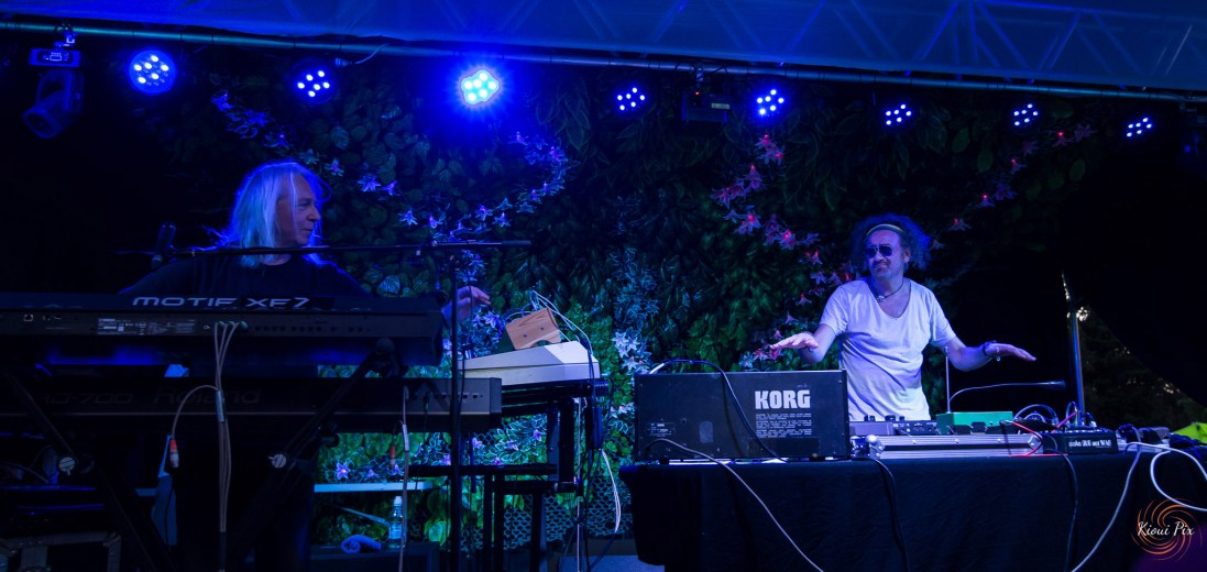 Deep Forest & Gaudi performing live in Auckland, New Zealand 2017. Image by Kioui Pix.