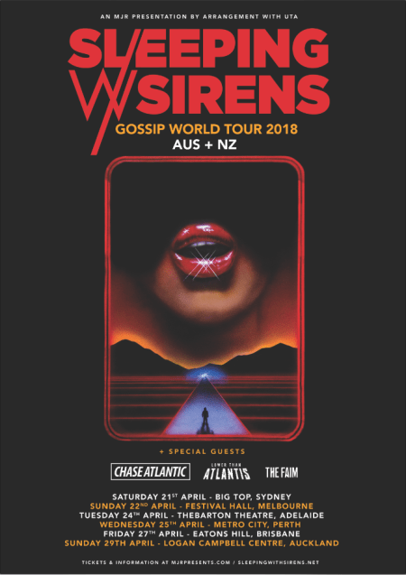 Sleeping With Sirens NZ Tour Poster