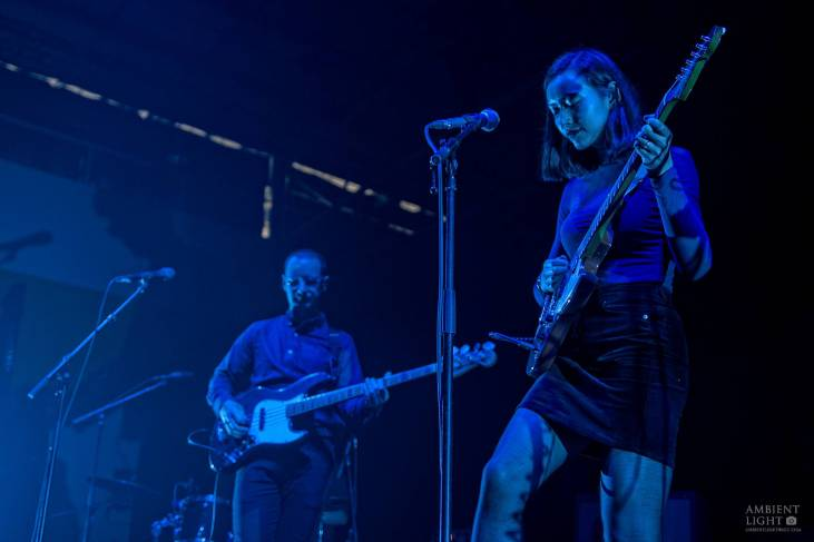 Fazerdaze performing live in support of The xx, Auckland New Zealand, 2017. Image by Doug Peters.