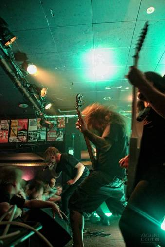 Cattle Decapitation perform live in Auckland, New Zealand, 2018. Image by Sarah Kidd.