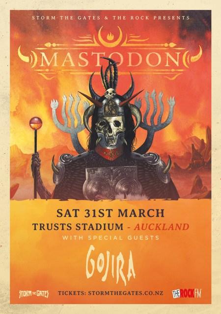 Mastodon NZ Concert Poster