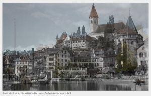 Sinnebrücke Thun um 1863 und 2014