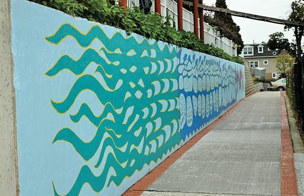 Ribbon Cutting Of Waterfront Mural At RYC The Amboy Guardian