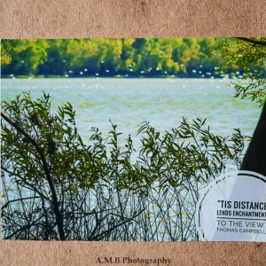 "Nature photo magnet ""Distance"" with a quote from Thomas Campbell, ""Tis Distance lends Enchantment to the View."""