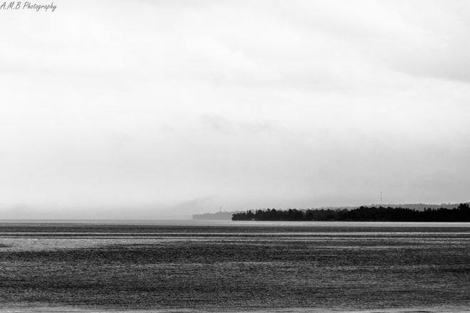 When I arrived to Mackinac City, Michigan it was quite foggy and cool. And, made for some awesome shots in black and white. Captured in August, 2020.
