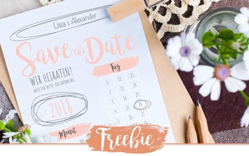 Freebie – Schlichte Save the Date Karten zum ausdrucken