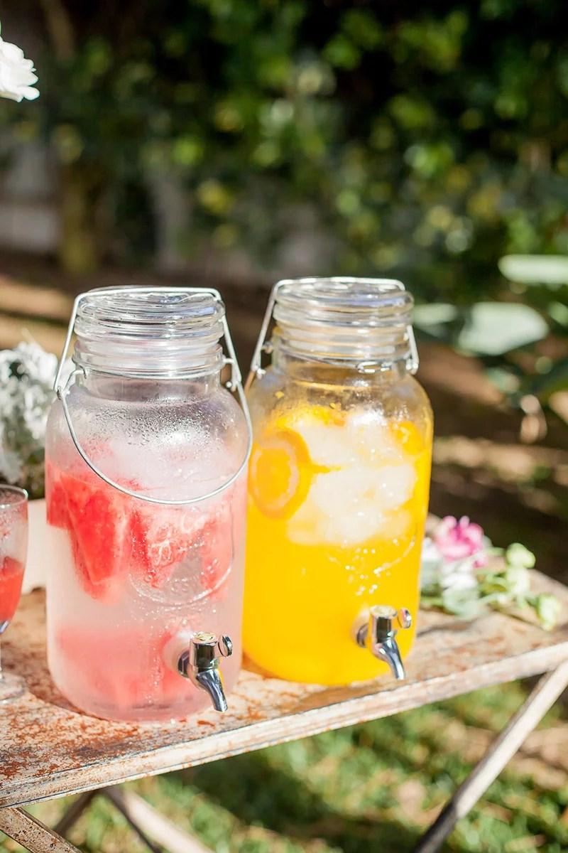 Sommerhochzeit in Spanien, Limonade mit Melone und Orange