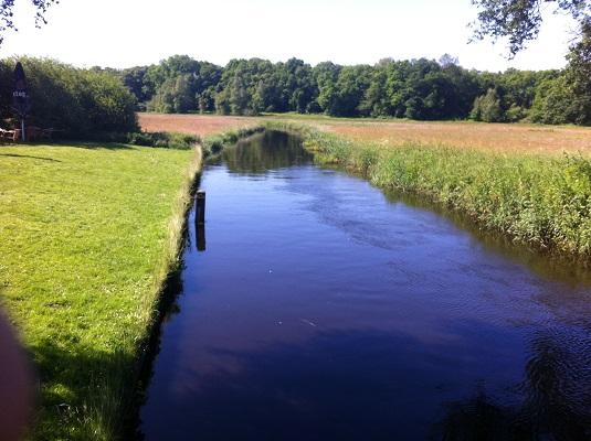 Schipborgs Diep op een wandeling over het Drenthepad van Anloo naar Glimmen