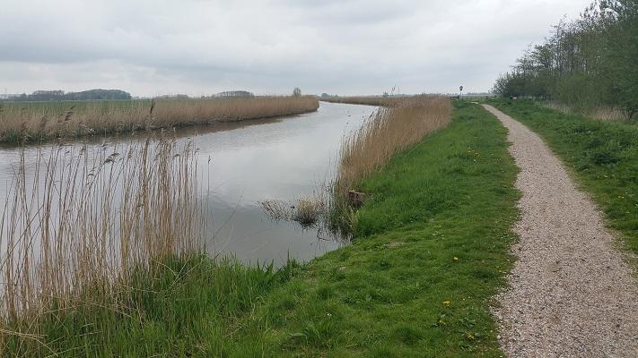 Berlikumerwijd tijdens wandeling over Elfstedenpad van Franeker naar Sint-Annaparochie