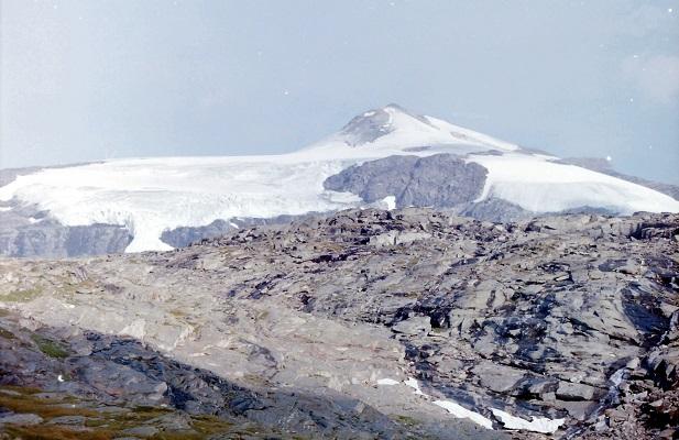 Bergen met sneeuw en gletschers Nationaal Park La Vanoise in Frankrijk