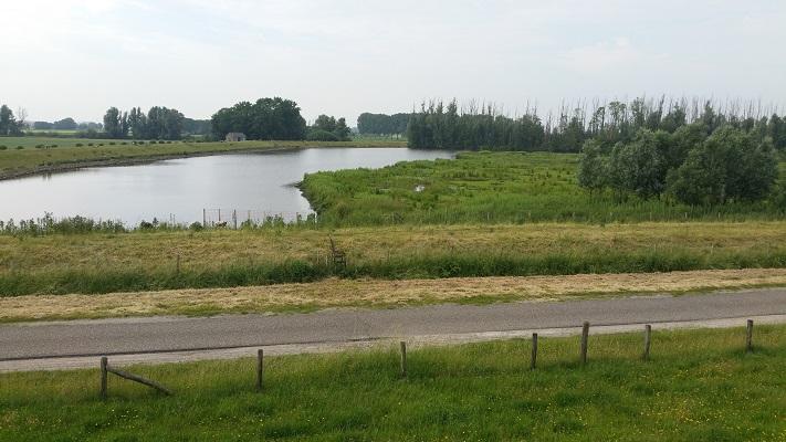 Gat van Den Ham op een wandeling over het Maaspad van Drimmelen naar Moerdijk