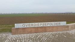 Overdiepsepolder tijdens een wandeling over het Maaspad van Waspik naar Waalwijk