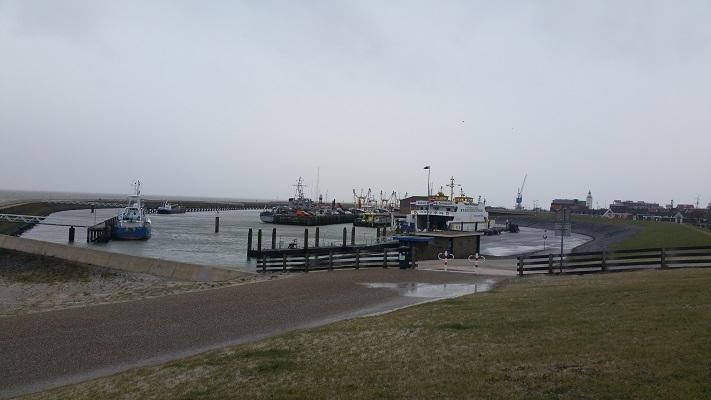 Haven Harlingen tijdens een wandeling over het Nederlands Kustpad van Makkum naar Harlingen