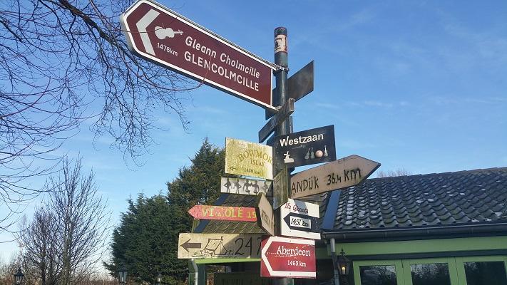 Verlaat tijdens wandeling van Kolhorn naar Obdam op Noord-Hollandpad