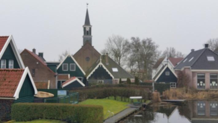 Driehuizen tijdens wandeling van Schermerhorn naar Krommenie over het Noord-Hollandpad