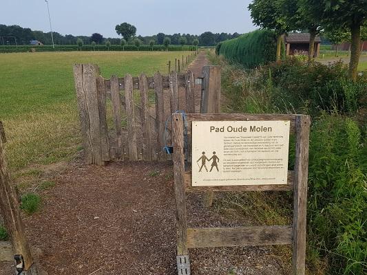 Wandelen over het Peelpad bij het pad Oude Molen in Liessel