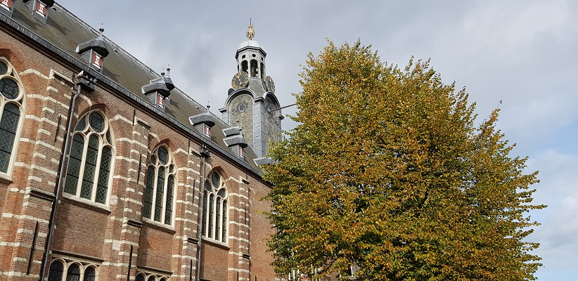 Wandelen over het Romeinse Limespad bij R.K. Onze Lievevrouwe Kerk in Leiden