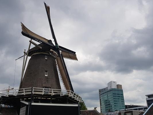 Wandelen over het Romeinse Limespad bij molen Lombok in Utrecht