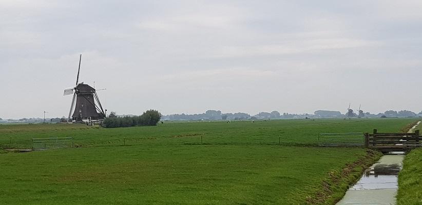 Wandelen over het Romeinse Limespad in polder bij Zwammerdam