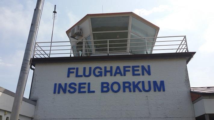 Flughaven Insel Borkum in een wandeling WaddenWandelen op Borkum