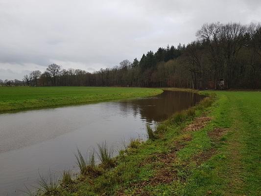 Oude Diep tijdens wandeling over het Westerborkpad van Hoogeveen naar Meppel