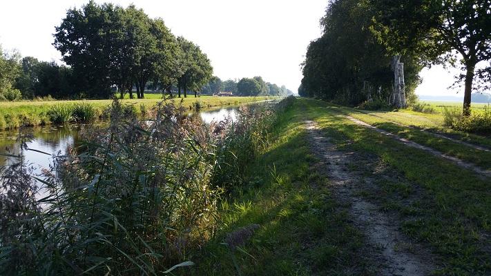 Pad langs Ruiten Aa tijdens wandeling over Ommetje over Westerwoldepad