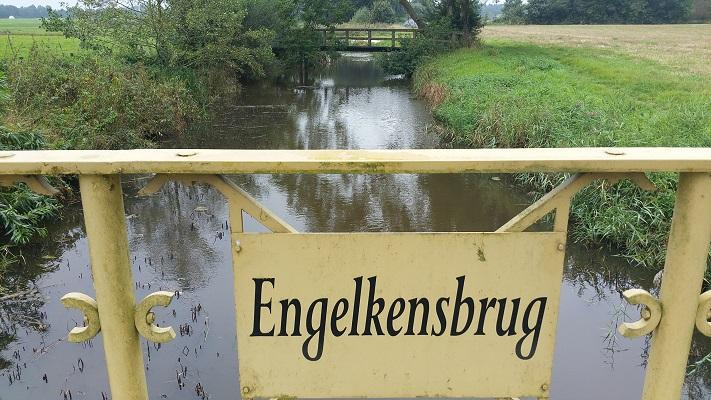 Engelkensbrug tijdens wandeling over Westerwoldepad van Wedderveer naar Vlagtwedde
