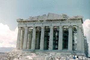 Akropolis in Athene tijdens wandelreis in Griekenland