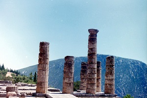 Opgravingen van Delfi tijdens wandelreis in Griekenland