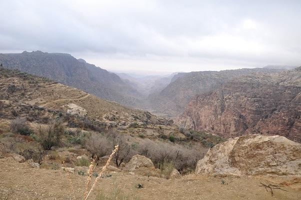Wandeling in natuurreservaat Dana tijdens een wandelreis van SNP door Jordanië