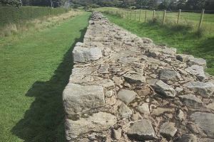 Muurresten Wandelreis over de Hadrian Wall, de muur van Hadrianus in Engeland