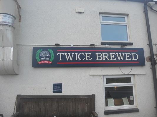 Brouwerij Twice Brewed op een wandeling van Chollerford naar Once Brewed op wandelreis over Muur van Hadrianus in Engeland